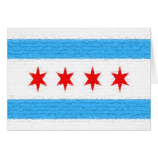 Chicago-Flagge Karte