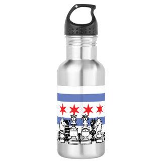 Chicago-Flaggen-Schach Trinkflasche