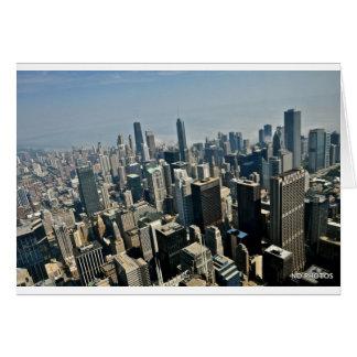 Chicago im Stadtzentrum gelegen Karte