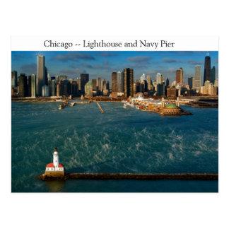 Chicago-Leuchtturm Postkarte