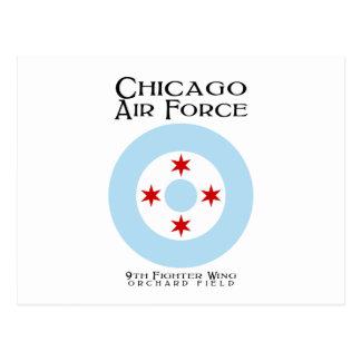 Chicago-Luftwaffe - 9. Kämpfer-Flügel Postkarte