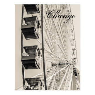 Chicago-Marine-Pier-Riesenrad-Postkarte Postkarte