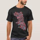 Chicago-Nachbarschafts-Karte T-Shirt