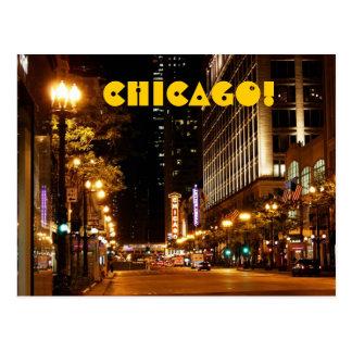 Chicago-Nachtleben Postkarte