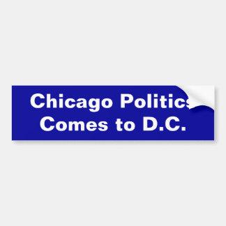 Chicago-Politik, kommt zu DC Autosticker