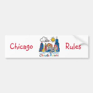 Chicago-Regeln Autoaufkleber