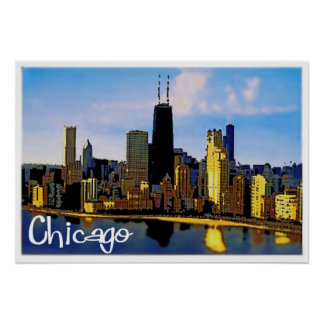 Chicago-Skyline Poster