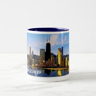 Chicago-Skyline Zweifarbige Tasse