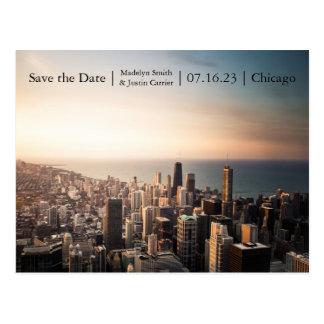 Chicago-Sonnenuntergang-Foto - Save the Date Postkarten