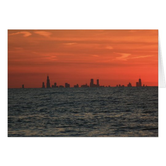 Chicago-Sonnenuntergang Grußkarte