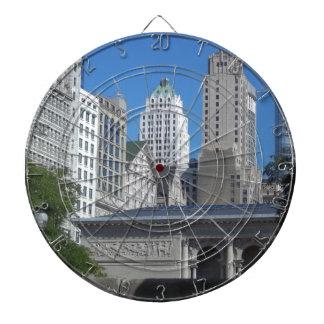 Chicago-Stadtbild Dartscheibe