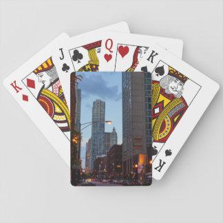 Chicago-Straßen-Szene Spielkarten