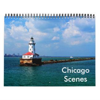 Chicago-Szenen-Kalender Wandkalender