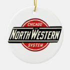 Chicago u. nordwestliches Eisenbahn-Logo 1 Keramik Ornament