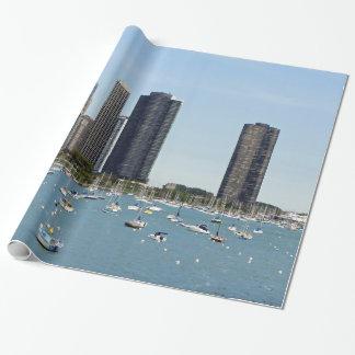 Chicago-Ufergegend Geschenkpapier