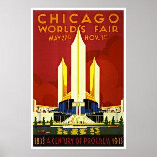 Chicago - Vintage Reise-Plakate Poster