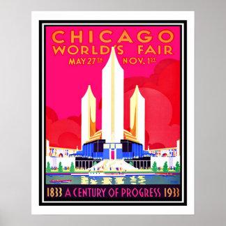 Chicago-Weltmesse-Vintage Wiedergabe Poster