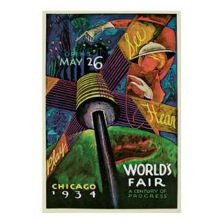 Chicago-Weltmesse-Vintages Reise-Tourismus-Plakat Poster