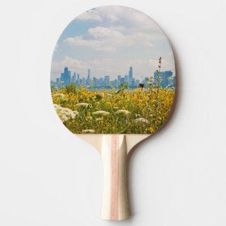 Chicago, wie vom Vogel Montrose Hafens gesehen Tischtennis Schläger