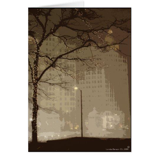 Chicago-Winter-Märchenland Grußkarte