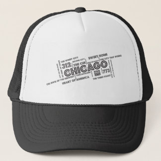 Chicago-Wort-Wolke Truckerkappe