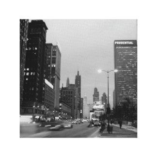 Chicagos Michigan Fotografie der Alleen-@ Leinwanddruck
