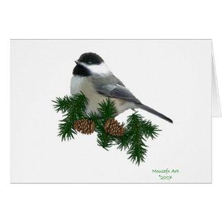 Chickadee-Großdruck-Weihnachtskarte Karte