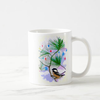 Chickadee-Vogel in der Baum-Tasse Kaffeetasse
