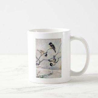 Chickadees im Schnee Kaffeetasse