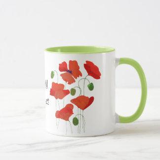 Chicscarlet-Feld-Mohnblumen-Wecker-Kaffee-Tasse Tasse