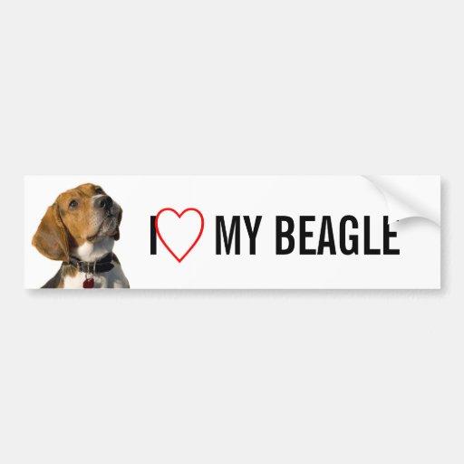 Chien mignon de beagle adhésifs pour voiture