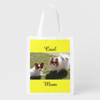 Chiens frais de maman sac réutilisable d'épcierie
