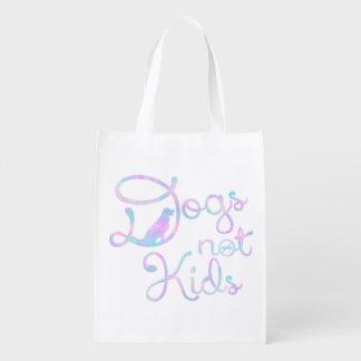 Chiens, pas enfants - sac réutilisable sac réutilisable d'épcierie