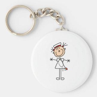 Chiffre femelle blanc cadeaux de bâton de l infirm porte-clés