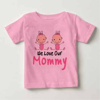 Chiffre jumeau bébés de bâton de filles tee-shirt