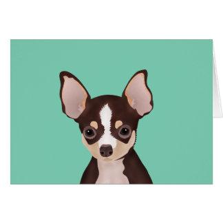 Chihuahua-Cartoon Karte