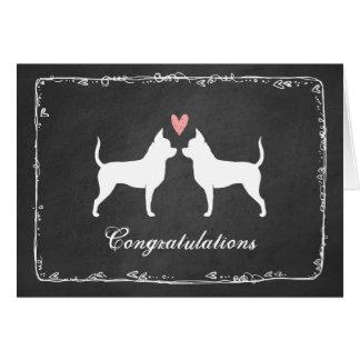 Chihuahua, die Glückwünsche Wedding sind Grußkarte