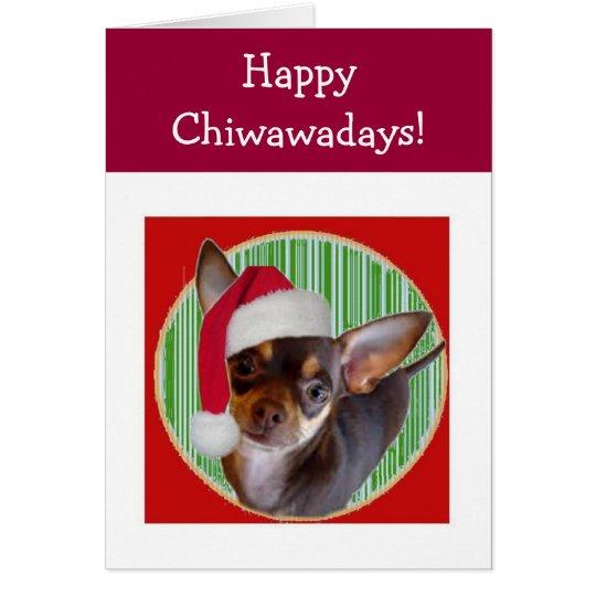 Chihuahua-Feiertags-Karte Karte