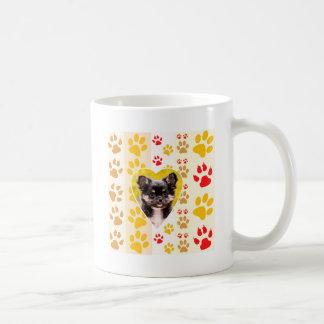 Chihuahua-Herz-Tatzen-Drucke Tasse