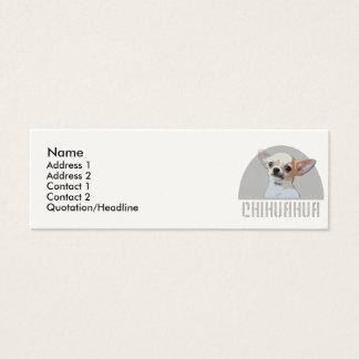 Chihuahua-Hund Mini Visitenkarte