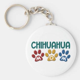 CHIHUAHUA Mamma-Tatzen-Druck 1 Standard Runder Schlüsselanhänger