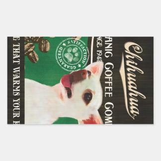 Chihuahua-Marke - Organic Coffee Company Rechteckiger Aufkleber