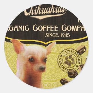 Chihuahua-Marke - Organic Coffee Company Runder Aufkleber