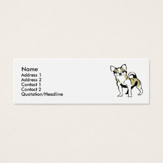 Chihuahua Mini Visitenkarte