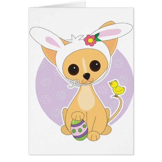 Chihuahua Ostern Grußkarte