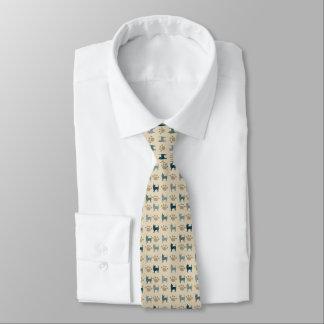 Chihuahua-und Tatzen-Krawatte Personalisierte Krawatte