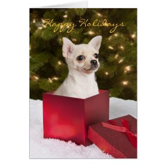 Chihuahua-Weihnachtskarte Karte