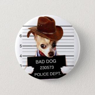Chihuahuacowboy - Sheriffhund Runder Button 5,1 Cm