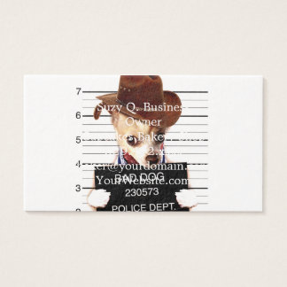 Chihuahuacowboy - Sheriffhund Visitenkarte