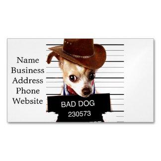 Chihuahuacowboy - Sheriffhund Visitenkartenmagnet